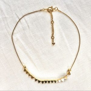 HENRI BENDEL pyramid choker necklace
